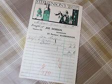 Joe DOBSON Ironmonger Newboro 1926 Letterhead to NESFIELD's Brewery Scarborough
