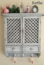 ARMADIO a Muro Armadio Scaffale Ganci BELLISSIMO paese Francese Vintage Shabby Chic