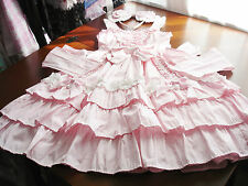 Baby the Stars Shine Bright Sweet Lolita Pink Pinstripe JSK Dress & Bow Set Used