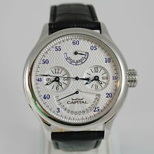 CAPITAL WATCH AUTOMATIC TY2545 MOVEMENT 40 RUBIES POWER RESERVE DOUBLE TIME ZONE