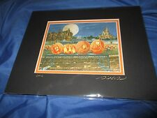 HAUNTED MANSION Signed Art Print DAVID DOSS ~Disney Exclusive HITCHHIKING GHOST