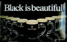 Blechschild Guinness Bier Black is beautiful Biergläser schwarz Schild Reklame