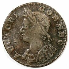 1786 M 4.1-G R-3 Mailed Bust Left Connecticut Colonial Copper Coin