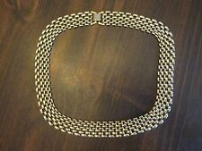 Imitation Gold Four Row Link Necklace Costume Jewelry