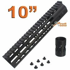 "CNC 10"" KeyMod Rail Handguard for Marui G&P CA SR M Series APS ASR Airsoft AEG"