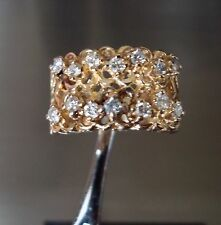 14K Yellow Gold  (8.67 Grams) Round Cut Diamond Ring Estate