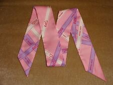 """Hermes """"Bolduc"""" Twilly in Bright Pink--Hermes Ribbons"""