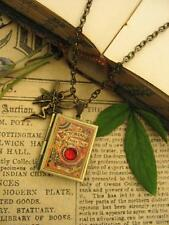 Bronze FAIRY TALES Book Photo LOCKET Necklace Pendant Steampunk Charms Faerie