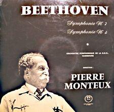 ++PIERRE MONTEUX/HAMBOURG symphonie 2&3 BEETHOVEN LP GUILDE DISQUE VG++