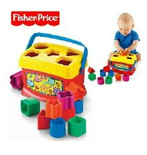 plastic toy gift Fisher Price baby's first blocks box brilliant basics game 1set