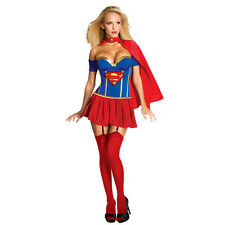 Women Super Superwomen Hero Superman Costume Cosplay Fancy Dress Up Halloween