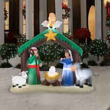 Christmas Inflatable Nativity Scene Decor Outdoor Garden Lawn Xmas Decoration