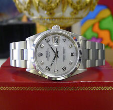 Mens ROLEX Oyster Perpetual Date 34mm Mother of Pearl Stainless Steel