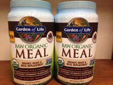 Lot Of (2) Garden Of Life Raw Meal Chocolate NEW FORMULA NOT Recalled  Vegan