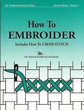 How To Embroider Book ~39 Pg.~ TNNA Quality Stitching Reference Book