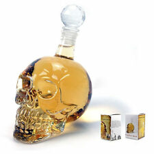 1000ml Crystal Skull Head vodka Shot Whiskey Wine Drinking Glass Bottle Decanter