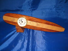 Hawaii Rose Wood T&C Town And Country Surf Design Surfboard Clock Hawaiian