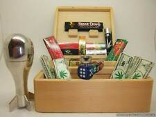 **SIX SHOOTER **DELUXE GIFT SET LARGE WOODEN SMOKING SMOKERS ROLLING BOX