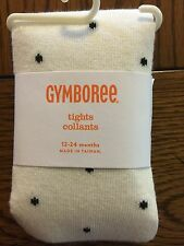 *NWT GYMBOREE* Girls CITY KITTY Ivory Tights with Black Polka Dots Size 4T-5T