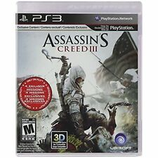 Assassin's Creed III For PlayStation 3 PS3 With Manual And Case Very Good 1E