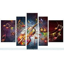 Music Note Guitar HD Canvas Print Unframed Canvas Picture Wall Art Painting