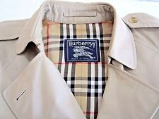 Burberrys England Womens P8 Double Breasted Trench Coat Tan/Nova Check Vintage