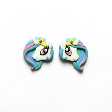 PRINCESS CELESTIA MY LITTLE PONY BIANCO UNICORNO CAVALLO Arcobaleno Orecchini Animale