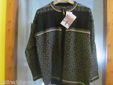 ❤SKJAEVELAND 100% WOOL ~TELEMARK SWEATER~ NORDIC DESIGN LG NAVY FROM NORWAY NEW❤