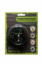 Komodo Analogue Dial Thermometer / Hygrometers - reptile vivarium or incubator