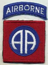 Vintage US Army 82nd Airborne Color Patch W/Airborne Tab Cut Edge