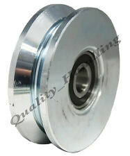 sliding gate wheel pulley wheel 100mm V groove Double bearing steel wheel wide