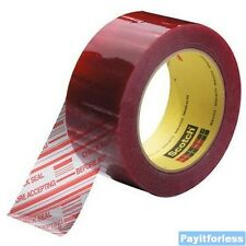 "3"" x 110 Yds 1.9 Mil Clear 3M 3779 Security Seal Carton Sealing Tape 24 Rolls"