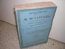 1857.oeuvres complètes de M.de Lantages.Saint-Sulpice.Puy Clermont.catholique