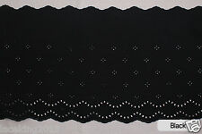 """1yard Broderie Anglaise cotton eyelet lace trim 11.4"""" (29cm) YH1503 laceking2013"""
