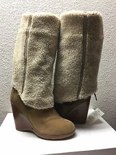 UGG COLLECTION FIORENTINA CHESTNUT OVER THE KNEE WEDGE USA 8 / EU 39 /UK 6.5 NEW