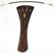 Rosewood Violin Tailpiece With Inlays Tailgut Violin Parts Strings Parts Supply