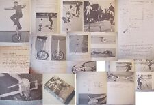 UNICYCLE BOOK~CYCLE RIDING Building Midget,CHAIN DRIVEN STUNT BICYCLE,/repairing