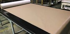 "45' FOOT ROLL CAMEL TAN FAUX LEATHER AUTO UPHOLSTERY FABRIC VINYL 54""W PLEATHER"