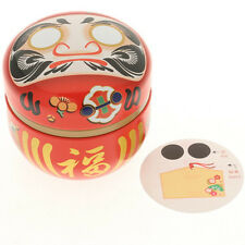 T-Can Lucky Red Daruma Wishes Tea 100g Canister/Container/Made Japan/ KTC499-555
