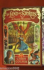 SIGNED IN PERSON CHRIS COLFER The Land of Stories: A Grimm Warning 2014, HC