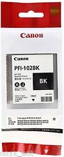 Canon PFI-102BK Ink Tank 0895B001AA Genuine Black Cartridges for IPF