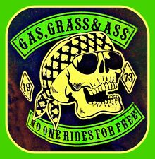 Funny Gas, Grass or Ass Marijuana / weed STICKER. For your bong. 2.5 x 2.5 inch