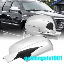 Fit 2007-2013 GMC Sierra Chevy Silverado Chrome Side Door Full Mirror Cover GG