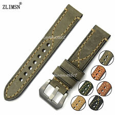 22mm New Men's Gray THICK Genuine Leather Watch Band Strap Belt HANDMADE BIG X