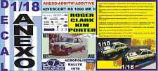 ANEXO DECAL 1/18 FORD ESCORT RS 1800 MK II ROTHMANS R.CLARK ACROPOLIS 1979 (04)