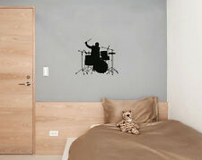 Drums Player Music Studio Beat Tune Wall Art Decal Sticker Picture Decorate