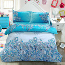 Queen Bed Quilt/Duvet/Doona Cover Set New Polyester Pillowcases Chinese Style