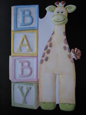 Carol Wilson Greeting Card New Baby Congratulations Giraffe Embossed Diecut
