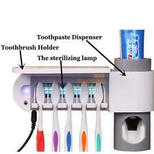 Hot UV Light Family Toothbrush Sterilizer Storage Automatic Toothpaste Dispense