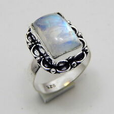 Rainbow Moonstone 925 Sterling Silver Jewelry Vintage Style Ring Us Size 6.5''A2